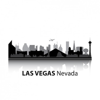 Las vegas skyline ontwerp Gratis Vector