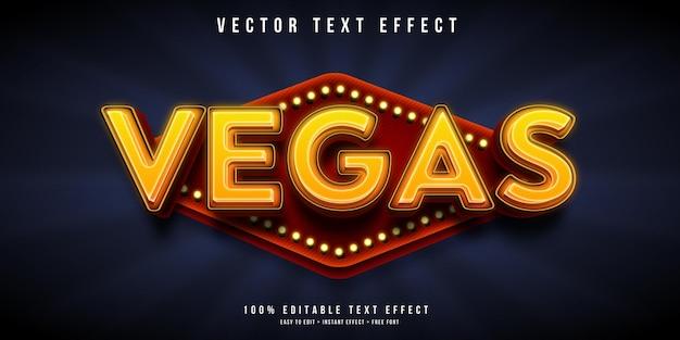 Las vegas-teksteffect