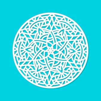 Laser gesneden vector mandala sieraad.
