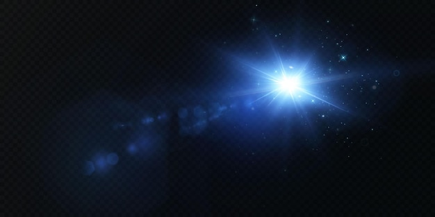 Laser neonstralen horizontale lichtblauwe stralen