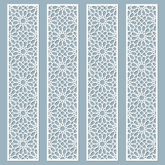 Lasergesneden decoratieve kanten randen met oosterse stijl