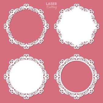 Lasergesneden frame-collectie met swirls en harten