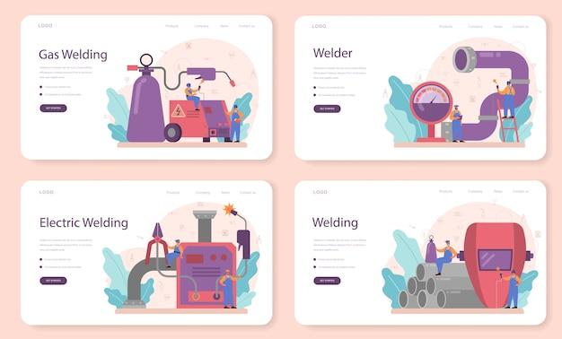 Lasser en lassen service concept webbanner
