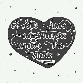Laten we avonturen beleven onder de sterren