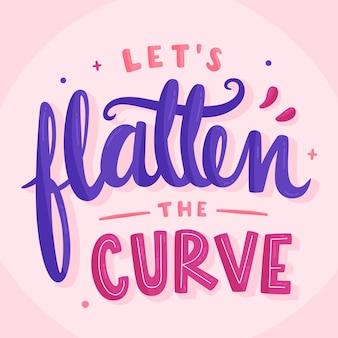 Laten we de curve-letters afvlakken