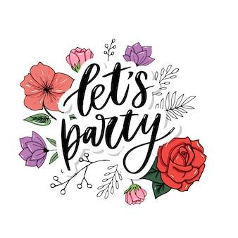 Laten we feesten.