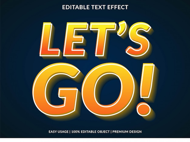 Laten we gaan 3d-tekst effect