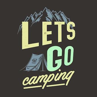 Laten we gaan kamperen
