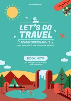 Laten we gaan reizen poster