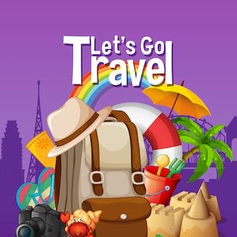 Laten we gaan reizen sjabloon