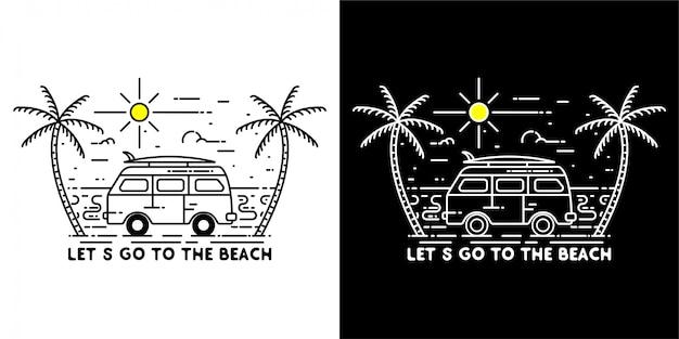 Laten we naar het strand gaan