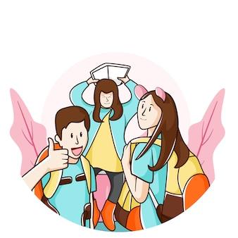 Laten we naar school gaan