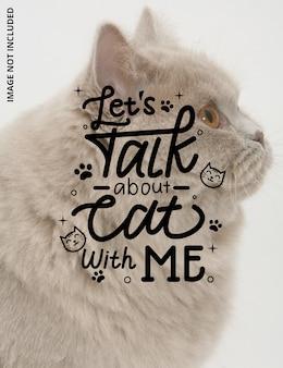 Laten we praten over kat met mij belettering