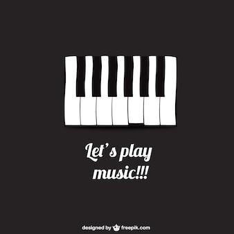 Laten we spelen muziek poster