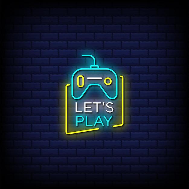 Laten we tekst in neonreclamestijl spelen