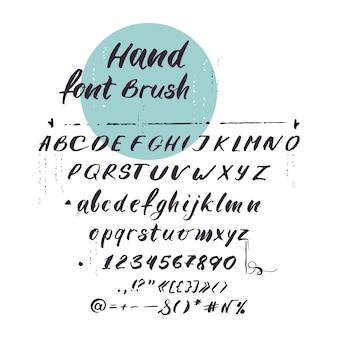 Latijns alfabet, cursief lettertype. handgeschreven letters