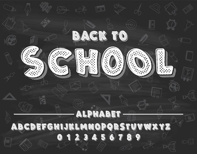 Latijnse alfabetkrijt - kenteken terug naar school.