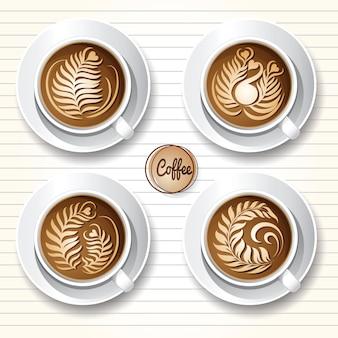 Latte art-koffie