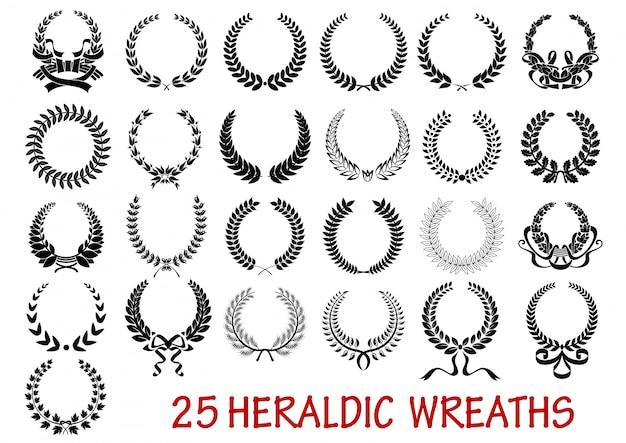 Lauwerkrans heraldische set