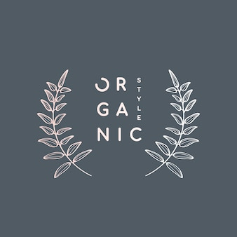 Lauwerkrans in organische stijl