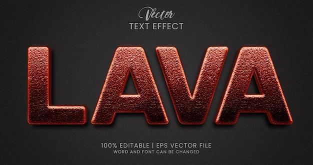 Lava bewerkbare teksteffectstijl