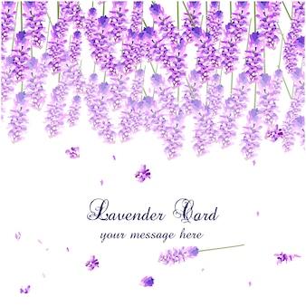 Lavendel aquarel kaart ontwerp