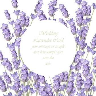 Lavendel frame achtergrond