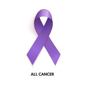 Lavendel lint. kanker teken. vectorillustratie. eps10