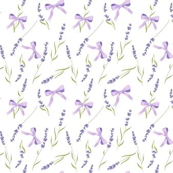 Lavendel naadloos patroon, de provence