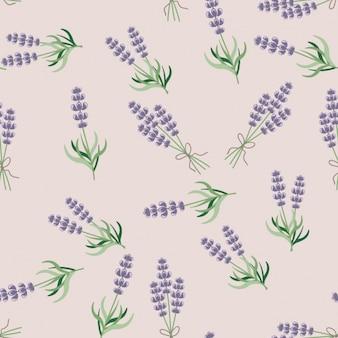 Lavendel naadloos patroon