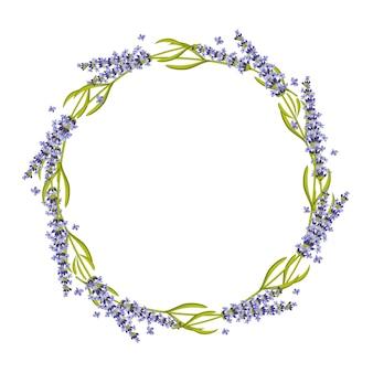Lavendel rond frame