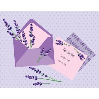 Lavendel uitnodiging ontwerp