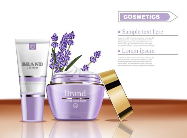 Lavendelcrème cosmetische collectie
