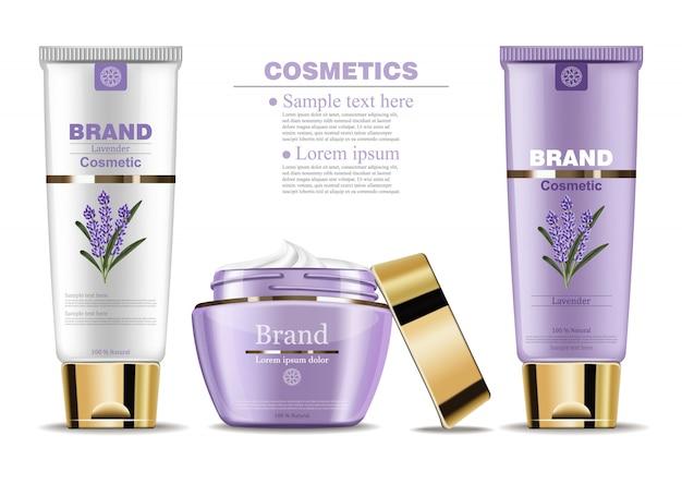 Lavendelcrème cosmetische mock-up
