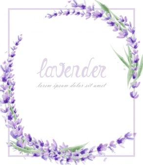 Lavendelkroon in waterverf