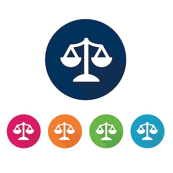 Law kantoor pictogram.