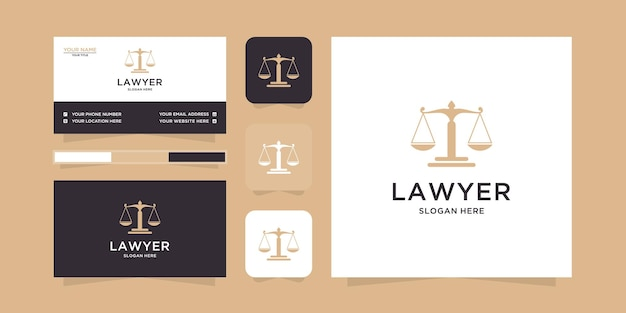 Law logo en visitekaartje sjabloon
