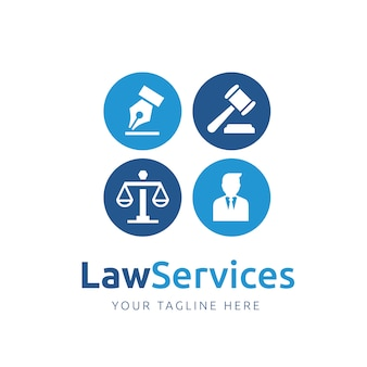 Law logo template ontwerp