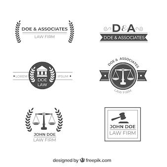 Law logotype ingesteld