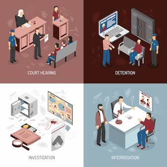 Law system isometric concept