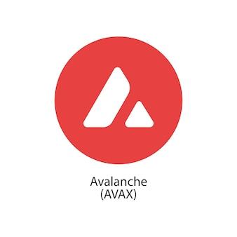 Lawine gedecentraliseerde blockchain internetofthings betalingen cryptocoin vector logo icoon