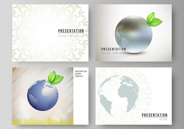 Lay-out van de presentatiedia's zakelijke ontwerpsjablonen voor presentatiebrochure