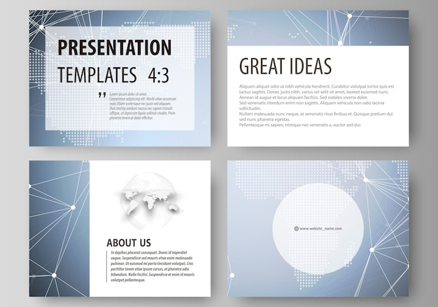 Lay-out van de zakelijke presentatiesjablonen