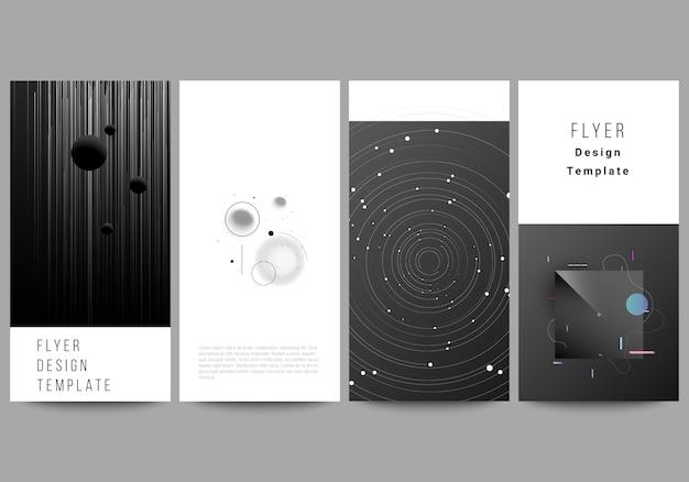 Lay-out van flyer, ontwerpsjablonen. tech wetenschap toekomst, ruimte ontwerp astronomie concept.