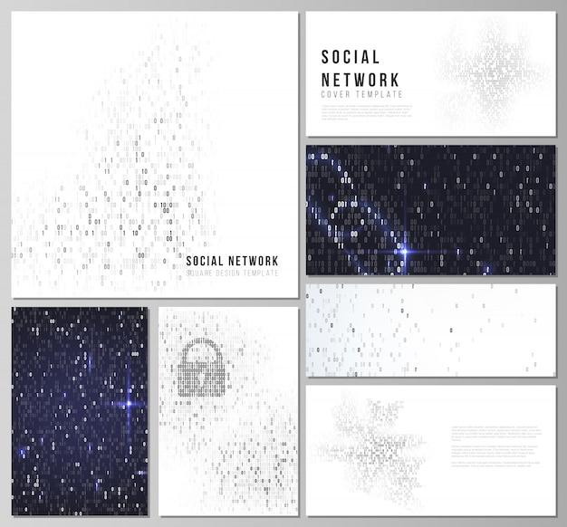 Lay-outs van moderne dekking sociaal netwerk