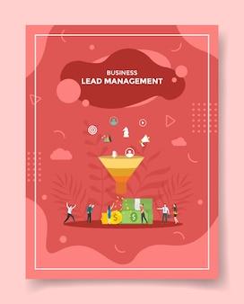 Lead management concept voor sjabloon