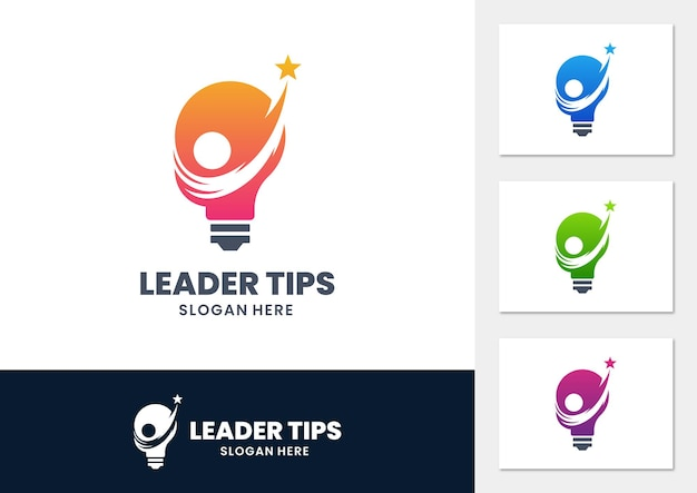 Leader tips-logo met lamp