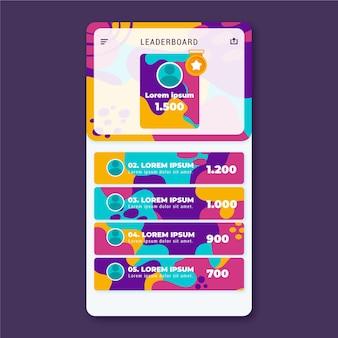 Leaderboard met abstracte achtergrond Gratis Vector
