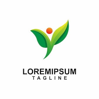 Leaf people care logo design