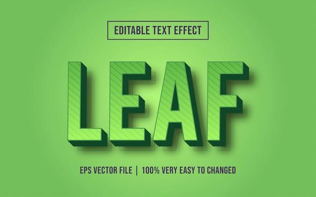 Leaf text effect bewerkbare tekenstijl